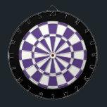 """Eggplant Purple Black And White Dart Board<br><div class=""""desc"""">Eggplant Purple Black And White Dart Board</div>"""