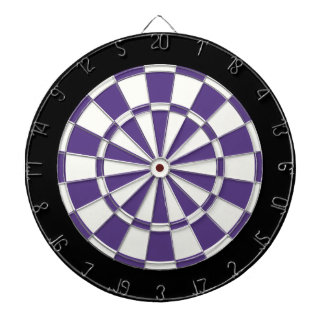 Eggplant Purple Black And White Dart Board