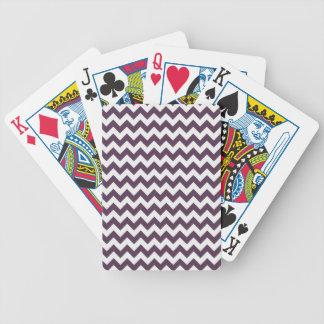 Eggplant Purple Chevron; zig zag Card Decks