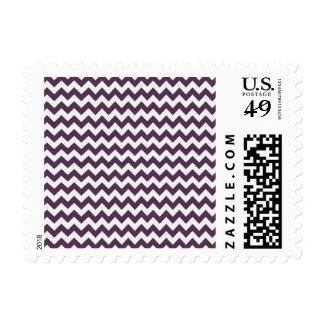 Eggplant Purple Chevron; zig zag Stamp