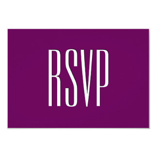 Eggplant Purple Custom RSVP Damask Wedding V17 Custom Invitation