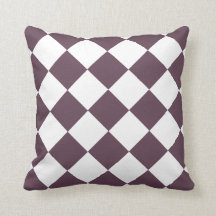 Eggplant Purple Diamond Pattern Pillow