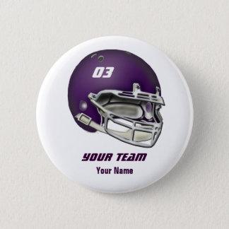Eggplant Purple Football Helmet Button