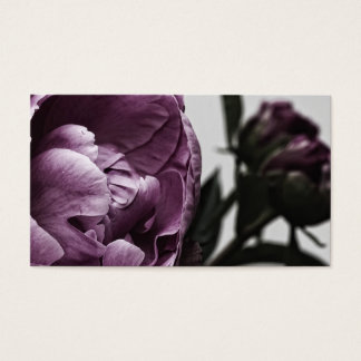 Eggplant Purple Peony Business Card