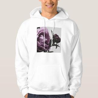 Eggplant Purple Peony Hoodie