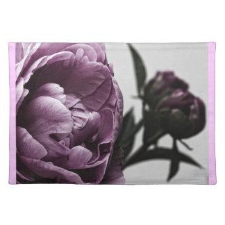 Eggplant Purple Peony Placemat