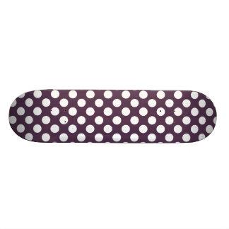 Eggplant Purple Polka Dots Custom Skate Board