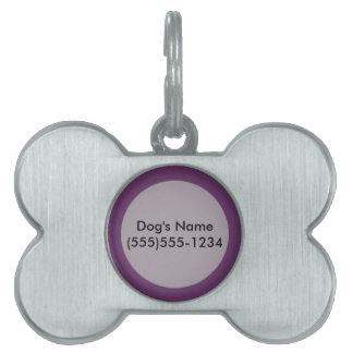 Eggplant purple template to personalize Customize Pet ID Tag