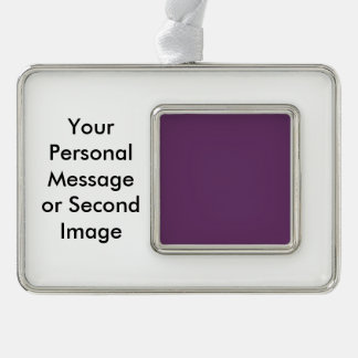 Eggplant purple template to personalize Customize Silver Plated Framed Ornament