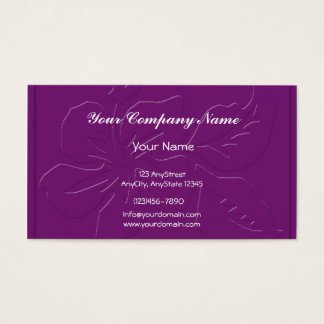 Eggplant Tone on Tone Hibiscus Business Card