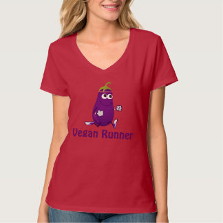 Eggplant Vegan Runner T-Shirt