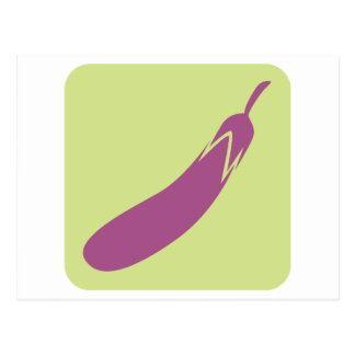 Eggplant Vegetable Icon Postcard