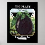 Eggplant Vintage Seed Packet Print