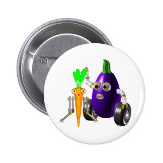 EggplantBot and CarrotBot Pinback Button