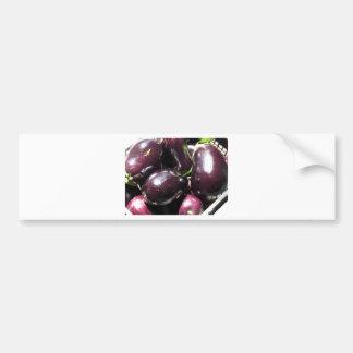 Eggplants background bumper sticker