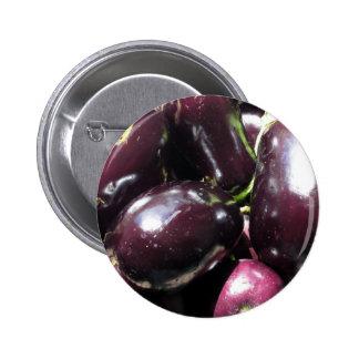 Eggplants background pinback button
