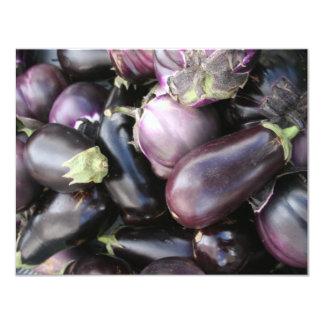 Eggplants 4.25x5.5 Paper Invitation Card