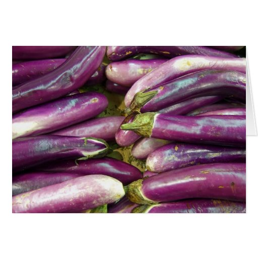Eggplants Note Cards