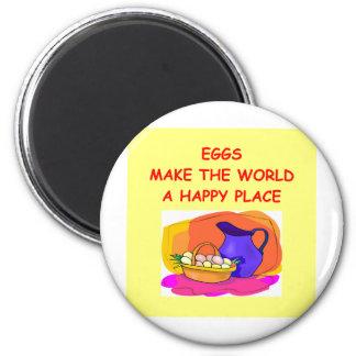 eggs 2 inch round magnet