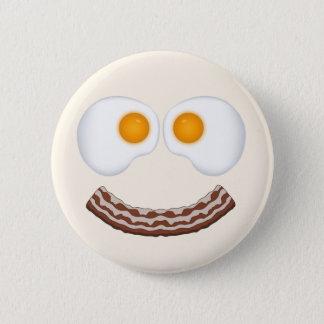 Eggs and Bacon Grin Button