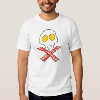 Eggs and Bacon Skull Tee Shirt
