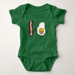 Eggs and Bacon Strips Combo Egg Breakfast Baby Bodysuit