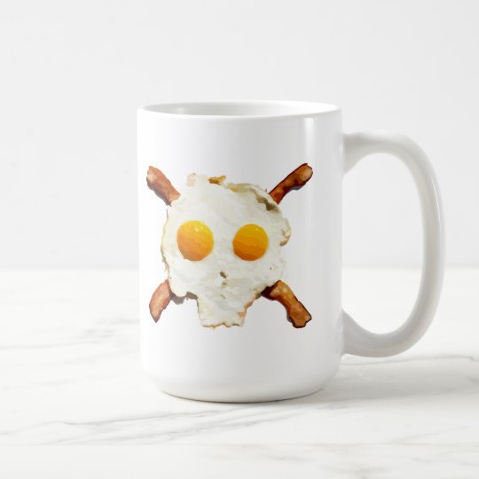 Eggs and Bacon with a side of Skull Coffee Mug