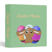 Eggs and Bunny Photo Album Template Binder