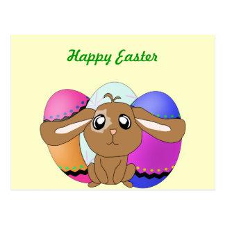 Eggs and Bunny Postcard