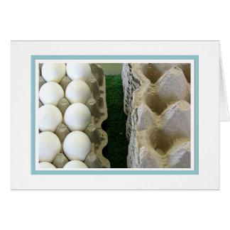 Eggs and carton card