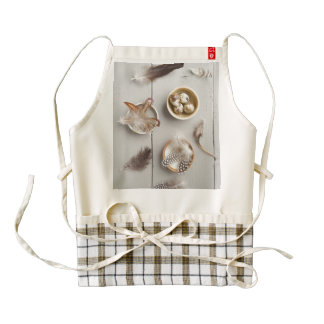 Eggs and feathers zazzle HEART apron