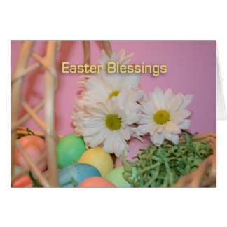 Eggs and Flowers Easter Blessings Card