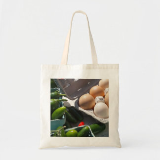 Eggs and Peppers Farmer s Market Tote Bag