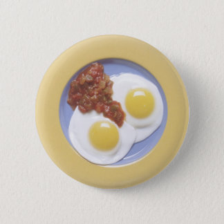 Eggs and Salsa Pinback Button