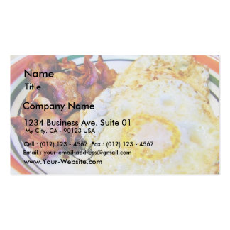 Eggs Bacon Breakfast Double-Sided Standard Business Cards (Pack Of 100)