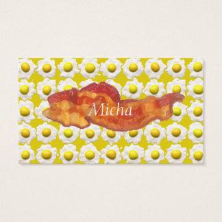 Eggs & Bacon Breakfast Monogram Business Card