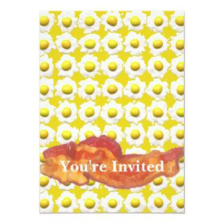 Eggs & Bacon Breakfast Monogram Card