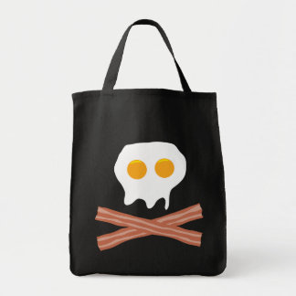 Eggs Bacon Skull Tote Bag