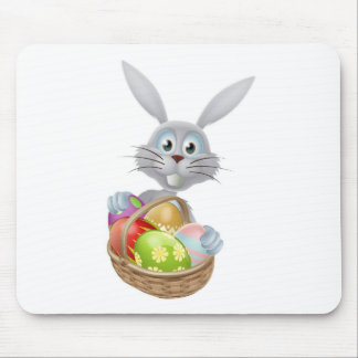 Eggs basket Easter bunny rabbit Mouse Pads