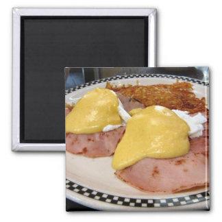 eggs benedict 2 inch square magnet