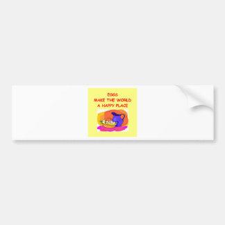 eggs car bumper sticker