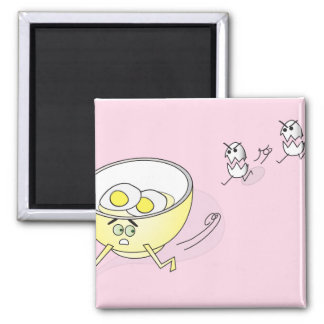 Eggs Chasing a Bowl Magnet