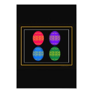 Eggs, Easter Eggs, Egg Graphic 5x7 Paper Invitation Card