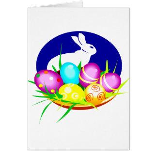 Eggs el óvalo azul graphic.png del conejito tarjeta pequeña