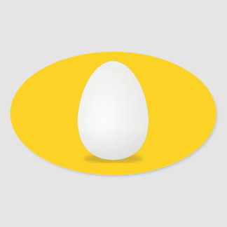 Eggs, Farm Fresh Egg Oval Sticker