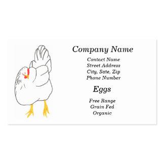 Eggs free range, grain fed, organic business cards