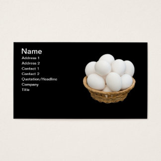 Eggs in basket business card