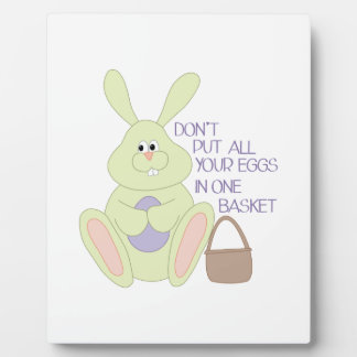 Eggs In One Basket Display Plaque