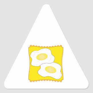 Eggs on a Plate Triangle Stickers