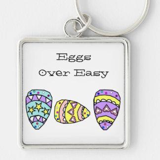Eggs Over Easy Keychain